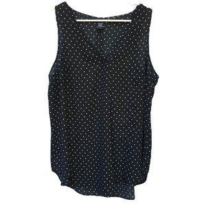 Torrid black and White polka dot tank top size 0